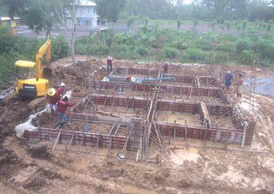 Foundations for the shrine hall